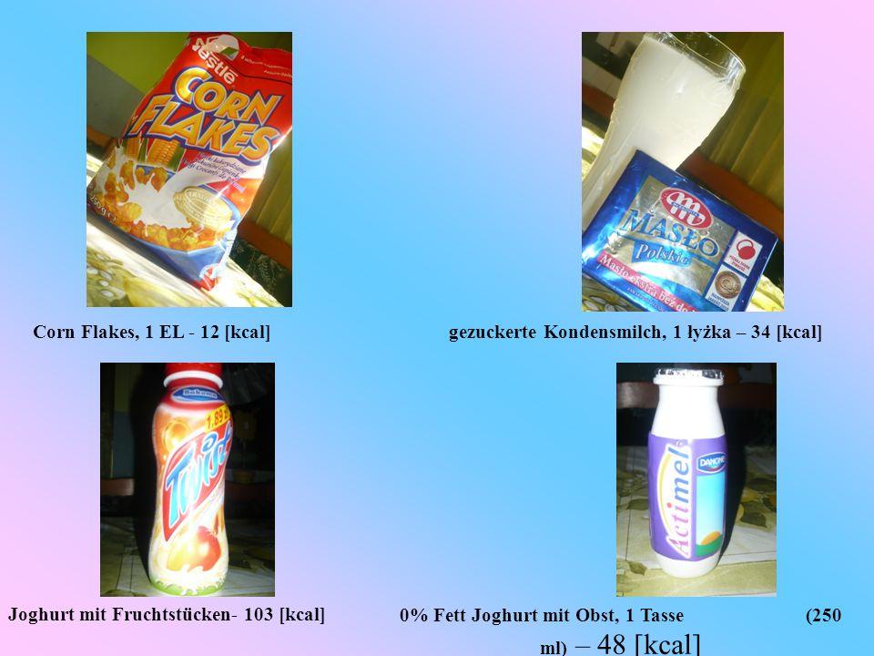 gezuckerte Kondensmilch, 1 łyżka – 34 [kcal]